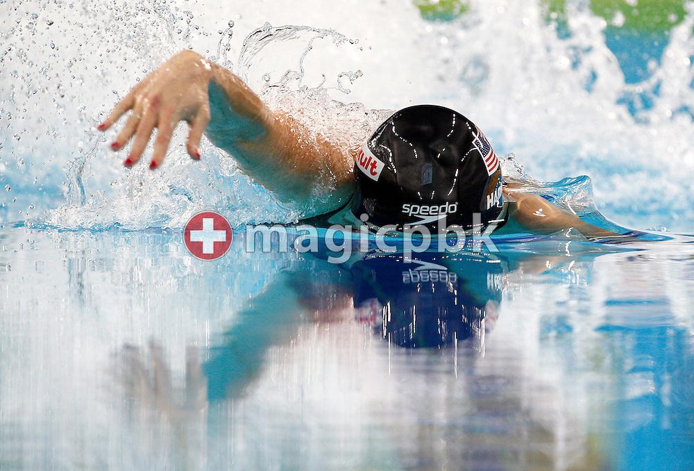 Jessica HARDY of the USA competes in the women's 50m Freestyle Semifinal during the 10th FINA World Swimming Championships (25m) at the Hamdan bin Mohammed bin Rashid Sports Complex in Dubai, United Arab Emirates, Saturday, Dec. 18, 2010. (Photo by Patrick B. Kraemer / MAGICPBK)
