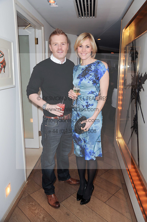 James Midgley and Jenni Falconer at a party to promote Marie Claire magazine Inspire & Mentor Campaign held at The Loft, The Ivy Club, West Street, London on 30th March 2010.