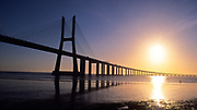 The Vasco da Gama bridge that spans the river Tagus, Lisbon, Portugal