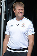 Erwin Koeman the Southampton assistant manager looks on before k/o. Barclays Premier League, Watford v Southampton at Vicarage Road in London on Sunday 23rd August 2015.<br /> pic by John Patrick Fletcher, Andrew Orchard sports photography.