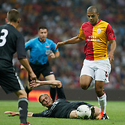 Galatasaray's Felipe MELO (R) during their Friendly soccer match Galatasaray between Liverpool at the TT Arena at Arslantepe in Istanbul Turkey on Saturday 28 July 2011. Photo by TURKPIX