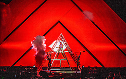 Katy Perry performs on stage at The Hydro, Glasgow, during her Prismatic World Tour.