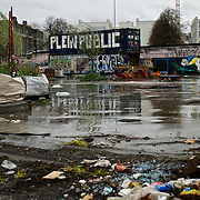 A playground in Brussels' Molenbeek neighbourhood, a hotbed of Islamic fundamentalism.