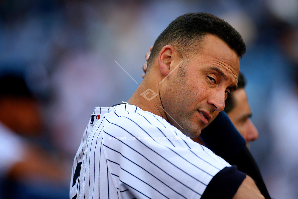Derek Jeter 1-5 which eliminated himself from the American League Batting Title during the New York Yankees vs Toronto Blue Jay's match-up at Yankee Stadium in New York, Sunday, Oct. 01, 2006. Robert Caplin For The New York Times
