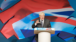 Conservative Party Conference, ICC, Birmingham, Great Britain <br /> Day 2<br /> 9th October 2012 <br /> <br /> Boris Johnson <br /> Mayor of London <br /> keynote speech <br /> <br /> <br /> Photograph by Elliott Franks<br /> <br /> <br /> Tel 07802 537 220 <br /> elliott@elliottfranks.com<br /> <br /> ©2012 Elliott Franks<br /> Agency space rates apply