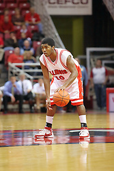 18 November 2007:Dom Johnson.  Illinois State Redbirds defeated the Seahawks of the University of North Carolina - Wilmington 89-73 on Doug Collins Court in Redbird Arena on the campus of Illinois State University in Normal Illinois.