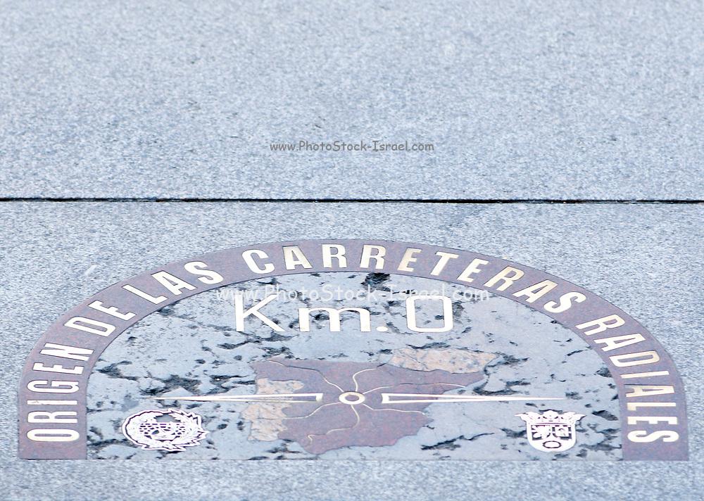 measuring point for Spain's road network, Puerta del Sol, Madrid, Spain