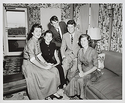 May 16, 2017 - U.S. - File Photo - John, Bobby, Jean, Pat, and Eunice Kennedy in Hyannis Port during the summer of 1952. In very fine museum-quality condition. A wonderful portrait photograph capturing JFK with his brother and three sisters, who all proved to be invaluable with their time and commitment (especially Bobby as campaign manager), in supporting their brother during his winning senatorial campaign.. John F. Kennedy Presidential Golf Ball Set Lot 9058. In commemoration of JFK's 100th birthday on May 29, 2017, RR Auction has curated an once-in-a-lifetime assortment of Kennedy artifacts, signed material, and photographs to celebrate the life of America's beloved 35th president. The more than 175 lots cover; JFK's early years, the transition to his congressional and senatorial careers, and 'The 1,000 Days of Camelot,' Kennedy's storied tenure as president. The special online offering is scheduled to begin on May 11 and will conclude on May 18, 2017. The R. Paloger photographs shows a period in JFK's life from 1946 to 1953, chronicling JFK's first political congressional campaign of 1946, his run for U.S. senator in 1952, and his marriage to Jackie in 1953. (Credit Image: © Ronnie Paloger/RR Auction via ZUMA Wire/ZUMAPRESS.com)
