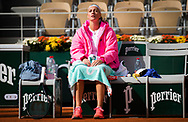 Petra Kvitova of the Czech Republic in action against Laura Siegemund of Germany during her quarter-final match at the Roland Garros 2020, Grand Slam tennis tournament, on October 7, 2020 at Roland Garros stadium in Paris, France - Photo Rob Prange / Spain ProSportsImages / DPPI / ProSportsImages / DPPI
