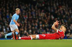 Jamie Paterson of Bristol City reacts after missing a chance - Mandatory by-line: Matt McNulty/JMP - 09/01/2018 - FOOTBALL - Etihad Stadium - Manchester, England - Manchester City v Bristol City - Carabao Cup Semi-Final First Leg