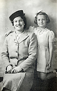 vintage studio photo of mother with daughter