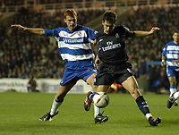 Picture: Henry Browne.<br />Date: 03/12/2003.<br />Chelsea v Reading Carling Cup 4th Round.<br />Steve Sidwell of Reading prevents Joe Cole of Chelsea from having a shot on goal