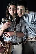 Javier Calvelo/ URUGUAY/ MONTEVIDEO/ FOTOGRAFIA/ Expoprado - Exposicion Rural del Prado de Montevideo/ Proyecto documental sobre la identidad, lo nacional, lo Uruguayo. Se trata de retratos simples mirando a camara y con un fondo neutro. Les pregunto a los fotografiados como quieren ser recordados en el futuro y de que localidad del Uruguay son.<br /> El titulo esta basado en la obra de Raymond Firth, Tipos Humanos. (Raymond William Firth, ( 1901-2002) fue un etnólogo neozelandés profesor de Antropología en la London School of Economics, es uno de los fundadores de la antropología económica británica). <br /> En la foto:  Tipos Humanos en Expoprado, Veronica Acevedo, Canelnes, y Eric Martinez, Durazno . Foto: Javier Calvelo <br /> erick_martinez2009@hotmail.com<br /> 2013-09-06 dia viernes