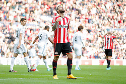 Steven Fletcher of Sunderland looks dejected - Photo mandatory by-line: Rogan Thomson/JMP - 07966 386802 - 27/08/2014 - SPORT - FOOTBALL - Sunderland, England - Stadium of Light - Sunderland v Swansea City - Barclays Premier League.