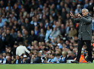 Jose Mourinho manager of Manchester United  during the English Premier League match at The Etihad Stadium, Manchester. Picture date: April 27th, 2016. Photo credit should read: Lynne Cameron/Sportimage