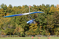Middletown, N.Y. - A hang glider being towed by a plane takes off at Randall Airport on Oct. 8, 2006. ©Tom Bushey