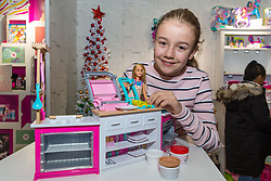 The Barbie Ultimate Kitchen from Mattel retails at £49.99. Ahead of Christmas the Dream Toys exhibition at St Mary's Church in Marylebone, London showcases the hottest toys in the market including the top twelve. London, November 14 2018.