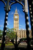 Vertical photo of Big Ben, London, England.