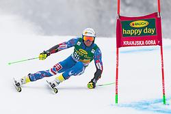 Adam Zampa of Slovakia during 1st run of Men's Giant Slalom race of FIS Alpine Ski World Cup 57th Vitranc Cup 2018, on 3.3.2018 in Podkoren, Kranjska gora, Slovenia. Photo by Urban Meglič / Sportida