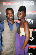l to r: Dameon Johnson and J.J Stone at The 13th Annual UrbanWorld Film Festival Premiere of ' Law Abiding Citizen'  held at AMC 34th Street on September 23, 2009 in New York City