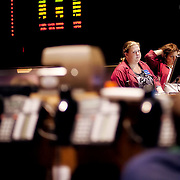 On the trading floor at the Kansas City Board of Trade