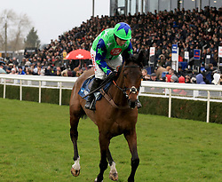 American ridden by Noel Fehily during the Marstons 61 Deep Midlands Grand National race at Uttoxeter Racecourse.