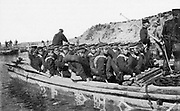 Russo-Japanese War 1904-1905: Japanese troops landing at Chinnampo,  March 1904