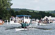 Henley-on-Thames. United Kingdom.  2017 Henley Royal Regatta, Henley Reach, River Thames. <br /> <br /> Fawley Challenge Cup, Windsor Boy's School celebrate victory over Claires Court School.<br /> <br /> 11:48:28  Sunday  02/07/2017<br /> <br /> [Mandatory Credit. Intersport Images].
