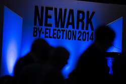 © Licensed to London News Pictures . 05/06/2014 . Newark , Nottinghamshire , UK . The count for the Newark by-election at Kelham Hall , Newark , this evening (Thursday 5th June 2014) . Photo credit : Joel Goodman/LNP