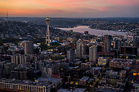 Belltown, Space Needle & Lake Union @ Sunset
