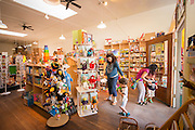 Clover Toys in the Ballard neighborhood of Seattle offers many wood toys and other child safe options.