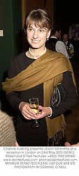 Channel 4 racing presenter LESLEY GRAHAM, at a reception in London on 23rd May 2001.OOM 2