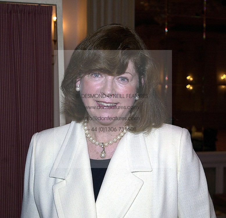 THE COUNTESS OF IVEAGH she is Miranda Iveagh mother of the 4th Earl of Iveagh, at a luncheon in London on 23rd February 2000.OBJ 40
