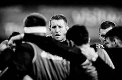 Ospreys' Bradley Davies during the pre match warm up<br /> <br /> Photographer Simon King/Replay Images<br /> <br /> EPCR Champions Cup Round 4 - Ospreys v Northampton Saints - Sunday 17th December 2017 - Parc y Scarlets - Llanelli<br /> <br /> World Copyright © 2017 Replay Images. All rights reserved. info@replayimages.co.uk - www.replayimages.co.uk