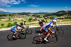 Matej Drinovec (SLO) of Slovenia, Lucas Hamilton (AUS) of Mitchelton - Scott, Edoardo Affini (ITA) of Mitchelton - Scott, Aljaz Jarc (SLO) of Adria Mobil, Nikolai Cherkasov (RUS) of Gazprom - Rusvelo during 2nd Stage of 26th Tour of Slovenia 2019 cycling race between Maribor and Celje (146,3 km), on June 20, 2019 in  Slovenia. Photo by Vid Ponikvar / Sportida