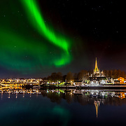 Aurora over Nidarosdomen (Domkirke) Nidaros Cathedral is a Church of Norway, located in the city of Trondheim in Sør-Trøndelag county, Norway. Built over the burial site of Saint Olaf, the king of Norway in the 11th century, who became the patron saint of the nation.