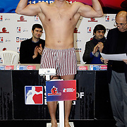 Istanbulls Enrico KOLLING boxers seen during their Presentation and the weighing ceremony matchday 5 of the World Series of Boxing at Ayhan Sahenk Arena in Istanbul, Turkey, Thursday, March 10, 2011. Photo by TURKPIX