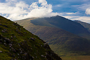 View of Mount Brandon from the Connor Pass, Dingle Peninsula, Co Kerry, Ireland