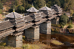 Dong minority Chengyang wind and rain bridge in Sanjiang Guangxi Province in China 2006