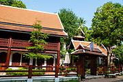 Sirirkili Villa along Kingkitsarath Road,  morning, Luang Prabang, Laos.
