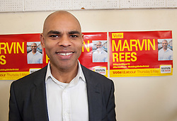 © Licensed to London News Pictures. 14/02/2016. Bristol, UK.  MARVIN REES  attends his campaign launch for Mayor of Bristol at Avon Primary School, Shirehampton, Bristol. Marvin Rees is the Labour candidate for Bristol's Mayoral election on 05 May, and his main rival is the incumbent George Ferguson, Bristol's first elected mayor who is standing again as an independent. There are four mayoral elections in May 2016, London, Bristol, Liverpool and Salford. Photo credit : Simon Chapman/LNP