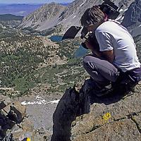 CINEMATOGRAPHY, Mike Graber (MR) films Ben Wiltsie climbing on Mt. Robinson, Sierra Nevada (CA) John Muir Wilderness. Big Pine Lakes bkg. (MR)
