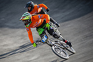 #88 during practice at the 2018 UCI BMX World Championships in Baku, Azerbaijan.