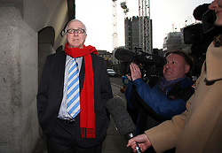 © Licenced to London News Pictures. 20/11/2013. London. UK.  <br /> Denis Macshane, disgraced former Labour MP pictured arriving for the sentencing of his case at the Central Criminal Court at the Old Bailey in London, October 30th 2009. The former Labour minister and MP for Rotherham pleaded guilty to false accounting by filing fake receipts amounting to nearly £13000.<br /> Photo Credit: Susannah Ireland