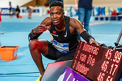 Liemarvin Bonevacia win the 400 meter during AA Drink Dutch Athletics Championship Indoor on 21 February 2021 in Apeldoorn.