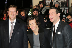 © Licensed to London News Pictures. Ben Turner, Harry Styles, Gabe Turner attend The Class of 92  World Film Premiere at The Odeon West End, Leicester Square, London on 01 December 2013. Photo credit: Richard Goldschmidt/LNP