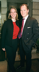 MISS SACHA SCHWARZENBACH, daughter of Urs <br /> Schwarzenbach and LORD WROTTESLEY,  at a party <br /> in London on 11th May 2000.ODT 55