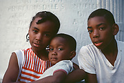 Young Family of Three, New York City, New York, USA, July 1983