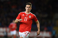 Tom Lawrence of Wales (11) looks on. Vauxhall International football friendly, Wales v The Netherlands at the Cardiff city stadium in Cardiff, South Wales on Friday 13th November 2015. pic by Andrew Orchard, Andrew Orchard sports photography.