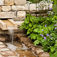 LONDON, UK - 21 May 2012: a detail of 'Cleve West Garden' at the RHS Chelsea Flower Show 2012.